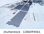 solar power plant  winter view | Shutterstock . vector #1286094061