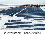 solar power plant  winter view | Shutterstock . vector #1286094064