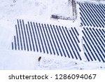 solar power plant  winter view | Shutterstock . vector #1286094067