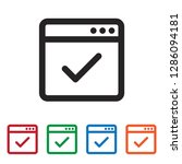web browser approve vector icon