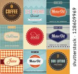 vintage label design set | Shutterstock .eps vector #128609969