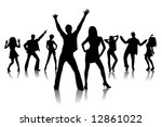 dancing people | Shutterstock . vector #12861022