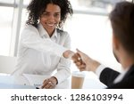 diverse businesspeople gathered ... | Shutterstock . vector #1286103994