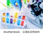 scientist with equipment and... | Shutterstock . vector #1286105644