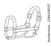 isolated object of horseback... | Shutterstock .eps vector #1286108107