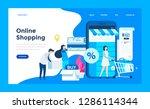 web design landing page... | Shutterstock .eps vector #1286114344