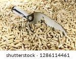 vintage enamel scoop with wood... | Shutterstock . vector #1286114461