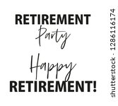 happy retirement party banner... | Shutterstock .eps vector #1286116174