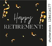 happy retirement party banner... | Shutterstock .eps vector #1286116177