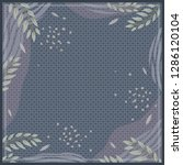 silk scarf floral with diagonal ... | Shutterstock .eps vector #1286120104