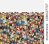 large group of people. seamless ... | Shutterstock .eps vector #1286127727