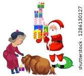 cartoon santa claus in red suit ...   Shutterstock .eps vector #1286130127