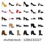 vector illustration of footwear ... | Shutterstock .eps vector #1286132227