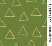 triangle seamless pattern.... | Shutterstock .eps vector #1286138971
