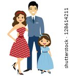 illustration of 50 ies style...   Shutterstock . vector #128614211