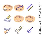 eyelash extension color icons... | Shutterstock .eps vector #1286142781