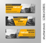 templates of horizontal vector... | Shutterstock .eps vector #1286143801