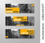 set of horizontal banners with... | Shutterstock .eps vector #1286144197