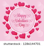 valentines day card with hearts | Shutterstock .eps vector #1286144701