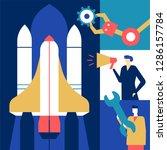 startup   flat design style... | Shutterstock .eps vector #1286157784
