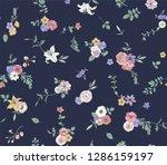 flower seamless pattern for... | Shutterstock .eps vector #1286159197