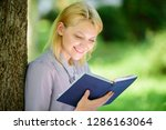 girl interested sit park read... | Shutterstock . vector #1286163064
