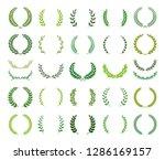 set of green silhouette laurel...   Shutterstock .eps vector #1286169157