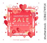 valentines day special offer... | Shutterstock .eps vector #1286174914