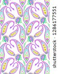 paisley pattern.  seamless... | Shutterstock . vector #1286177551