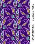 paisley pattern.  seamless... | Shutterstock . vector #1286177557