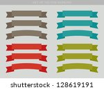 set of vector ad ribbons  ... | Shutterstock .eps vector #128619191