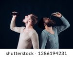 drunkenness. alcohol addicts.... | Shutterstock . vector #1286194231