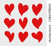vector set of red isolated...   Shutterstock .eps vector #1286198044