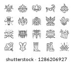 carnival icon set. included the ... | Shutterstock .eps vector #1286206927