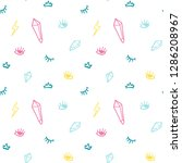 hand drawn doodles icon... | Shutterstock .eps vector #1286208967