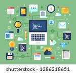 programming and coding  website ... | Shutterstock .eps vector #1286218651