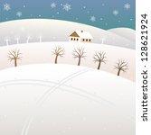 cross country ski trail | Shutterstock .eps vector #128621924