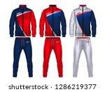 sport track suit design... | Shutterstock .eps vector #1286219377