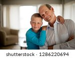 portrait of a happy young boy... | Shutterstock . vector #1286220694