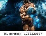 brutal strong muscular...   Shutterstock . vector #1286220937