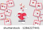 love story in photo 3d paper... | Shutterstock .eps vector #1286227441