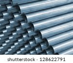 blue tone of close up steel... | Shutterstock . vector #128622791