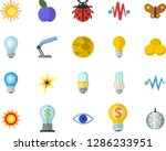 color flat icon set energy... | Shutterstock .eps vector #1286233951