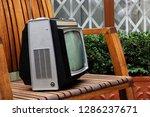retro tv as obsolete dusty tv... | Shutterstock . vector #1286237671