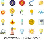 color flat icon set energy... | Shutterstock .eps vector #1286239924