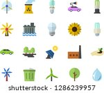 color flat icon set energy... | Shutterstock .eps vector #1286239957