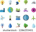 color flat icon set energy... | Shutterstock .eps vector #1286255401