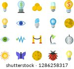 color flat icon set energy... | Shutterstock .eps vector #1286258317