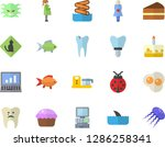 color flat icon set food... | Shutterstock .eps vector #1286258341