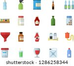 color flat icon set spice flat...   Shutterstock .eps vector #1286258344